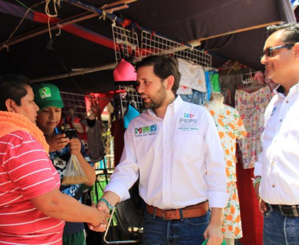 Comerciantes manifiestan su respaldo a Pepe Estefan