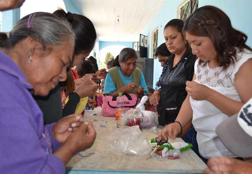 En la Mixteca fortalecen trabajo  de apoyo a la mujer