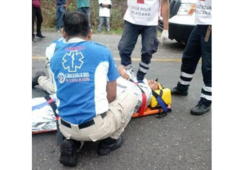 Encontronazo en la 175 en Miahuatlán, Oaxaca; dos lesionados