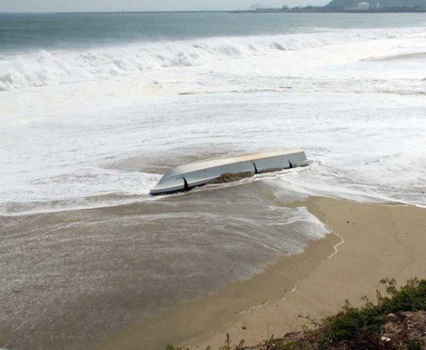 Olas de tres metros;  extreman precaución en la Costa de Oaxaca
