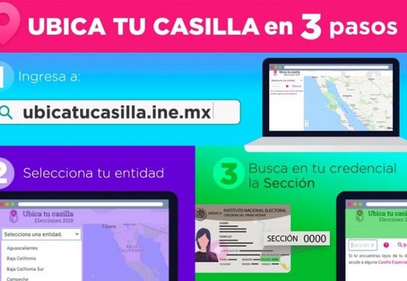 ¿Aún no sabes dónde está la casilla donde debes votar?, ubica tu casilla en tres pasos | El Imparcial de Oaxaca
