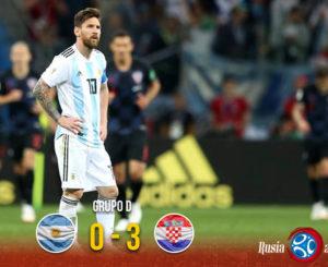 ¡Vergüenza! Argentina cae ante Croacia y está casi fuera del Mundial