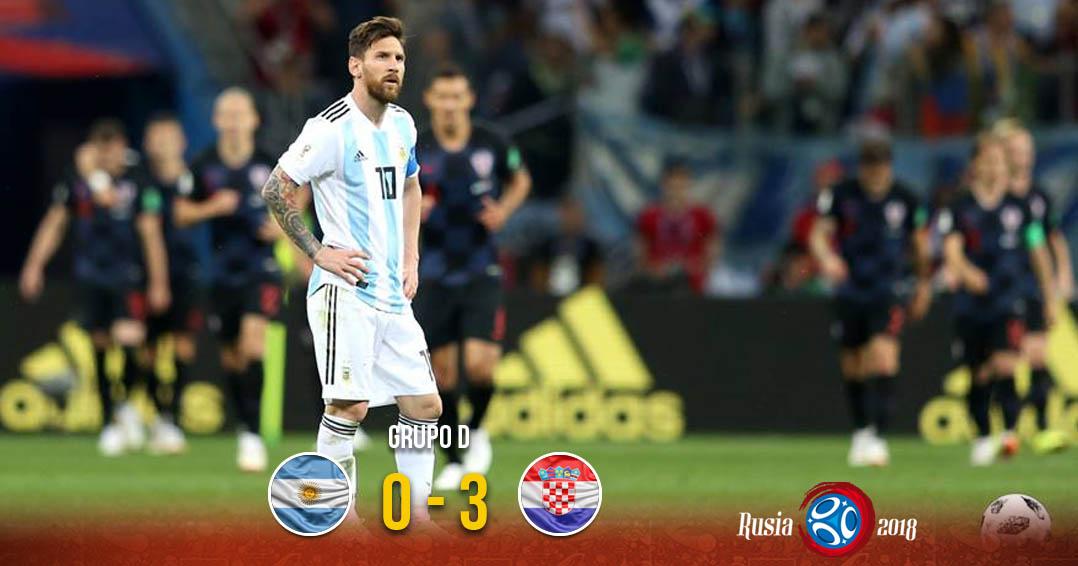 ¡Vergüenza! Argentina cae ante Croacia y está casi fuera del Mundial | El Imparcial de Oaxaca