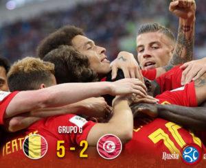 Con goleada de 5-2, Bélgica derrota a Túnez; a un paso de octavos