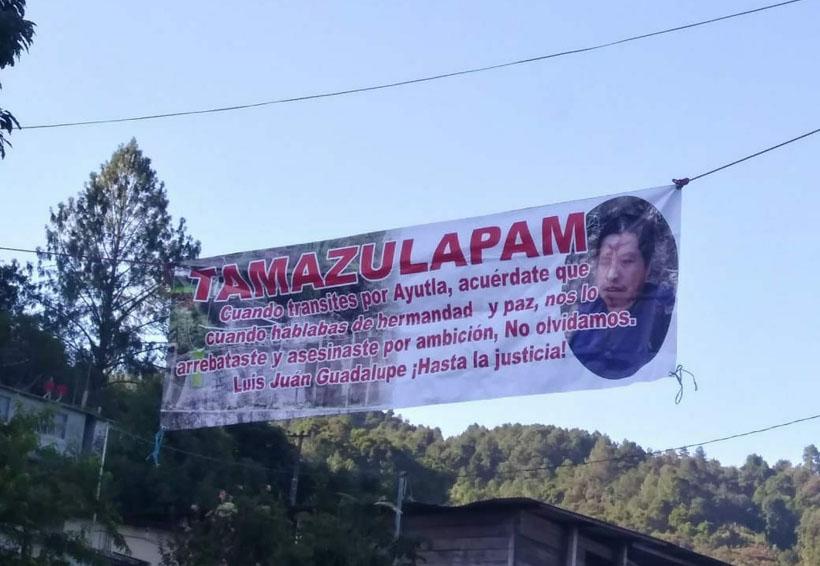 Exigen justicia a un año de hechos violentos entre Tamazulápam y Ayutla