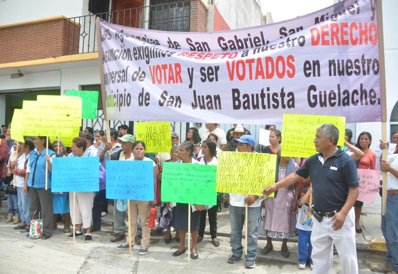 Protestan agencias de Guelache en el TEEO | El Imparcial de Oaxaca