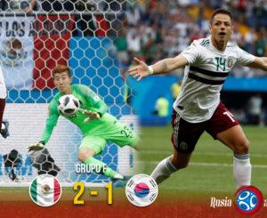 México le gana a Corea y asegura su boleto a octavos