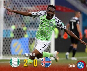 Nigeria sigue vivo y derrota a Islandia