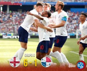 Inglaterra elimina a Panamá y califica a Octavos de Final