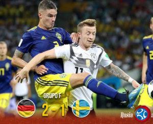 Alemania logró una victoria en la última jugada ante Suecia
