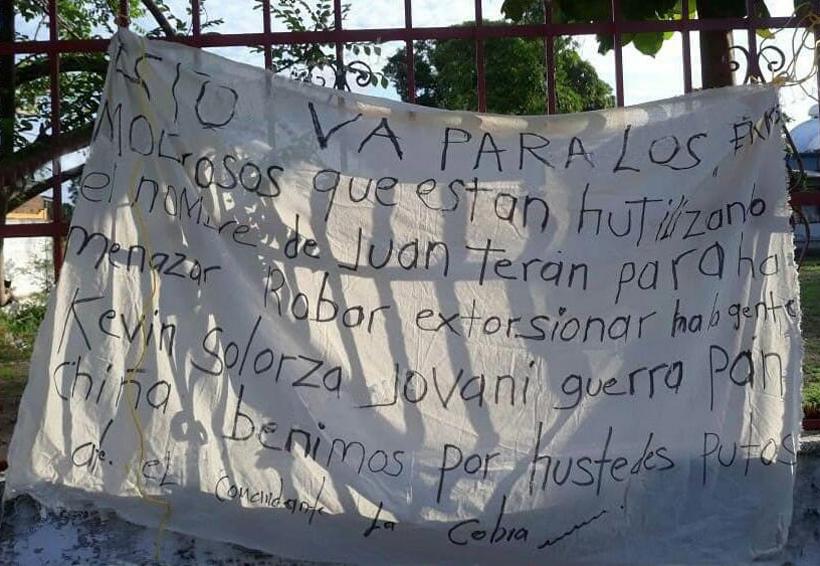 Temor por mantas de grupos  delincuenciales en el Istmo | El Imparcial de Oaxaca