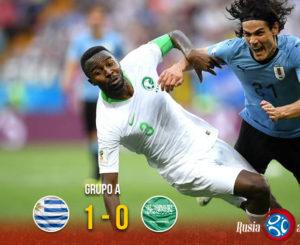 Arabia luchó pero no le alcanzó; Uruguay en octavos