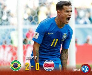 Brasil deja sin esperanzas a Costa Rica
