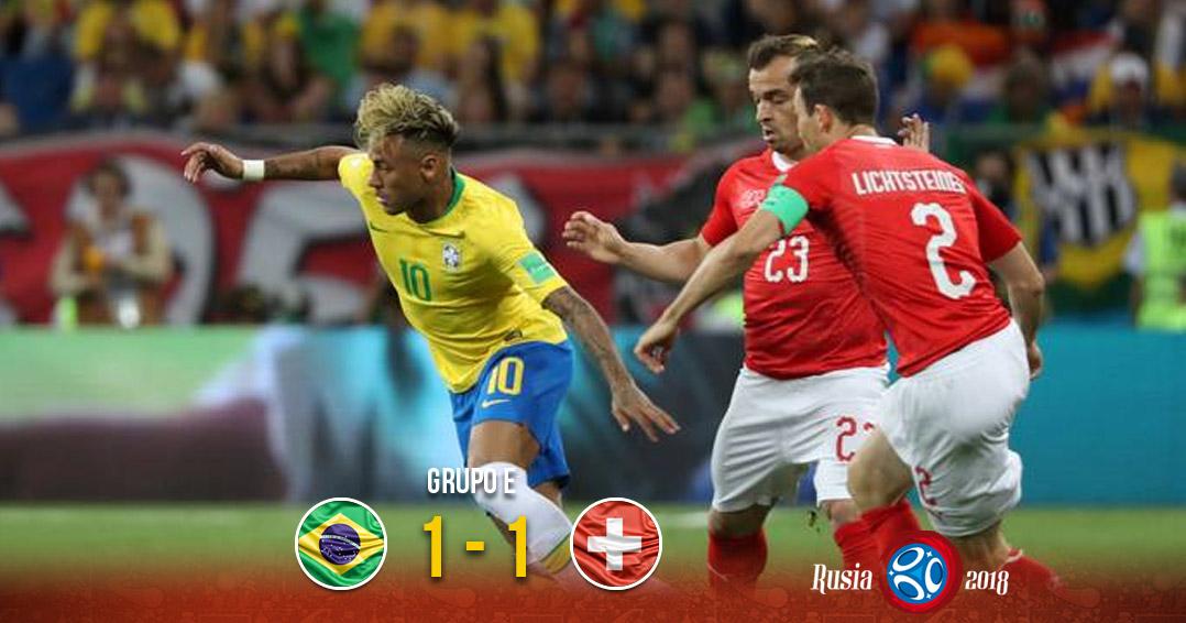 Suiza rescata el empate ante Brasil | El Imparcial de Oaxaca
