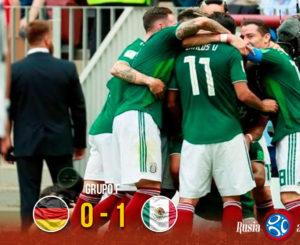 México da la campanada contra Alemania