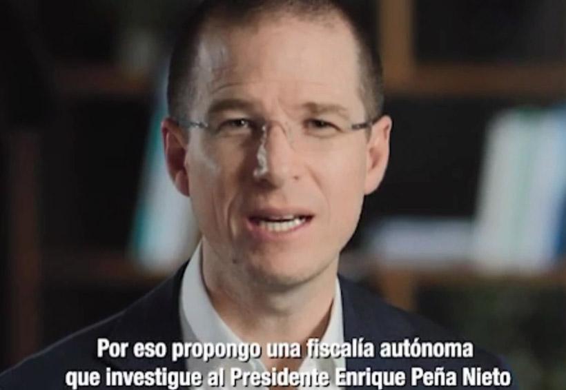 Una fiscalía que investigue a Peña Nieto, propone Anaya | El Imparcial de Oaxaca