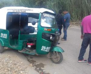 Aseguran mototaxi en Ixtlahuaca