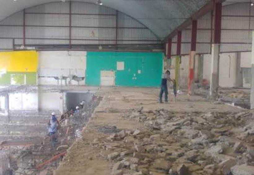 Avanza la remodelación del mercado de Tuxtepec