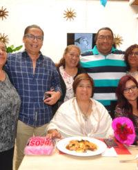 Rosalba celebra en familia