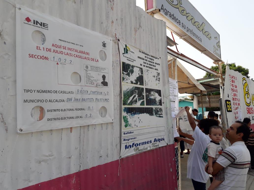 En calma, jornada electoral  en la Cuenca del Papaloapan