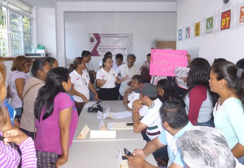 Impiden recuento de votos en Cuicatlán