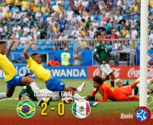 Brasil echa a México; sigue la maldición de los octavos