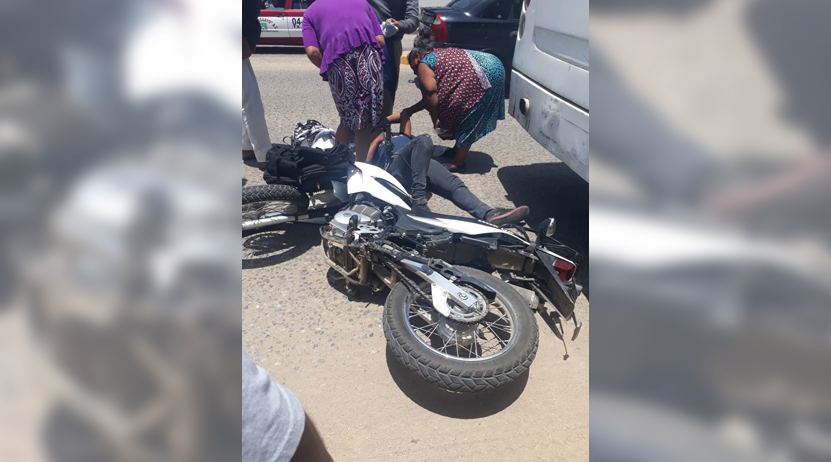 Veloz motociclista se impacta contra camión rumbo a Cuilapam | El Imparcial de Oaxaca