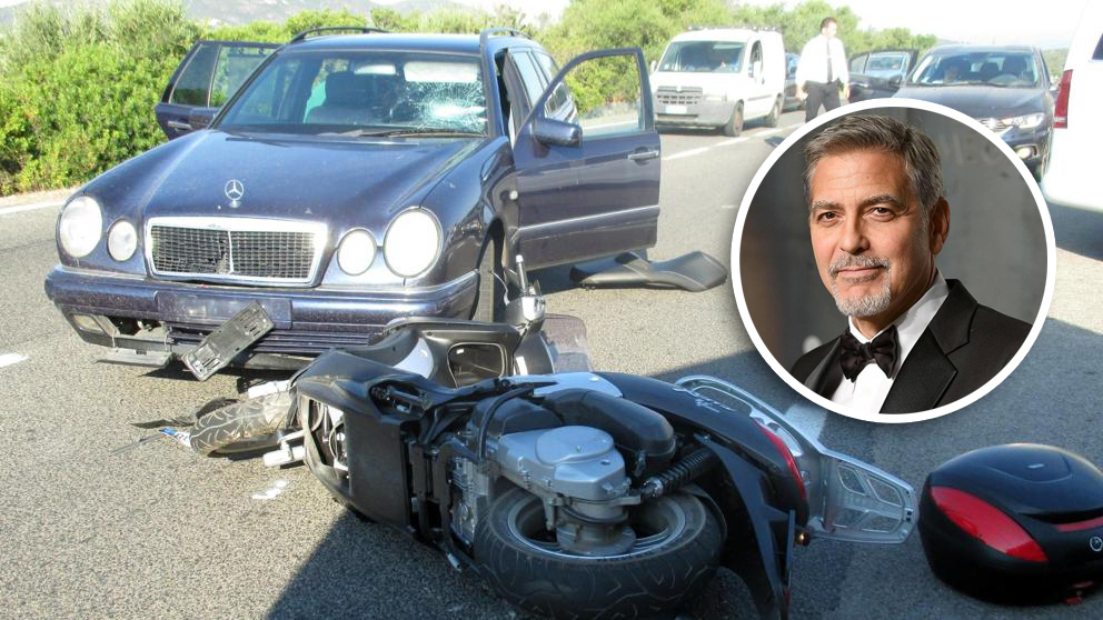 Video: El impactante accidente en moto de George Clooney | El Imparcial de Oaxaca