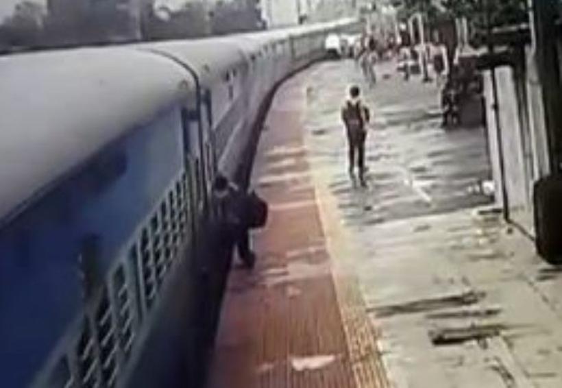Video: Un tren arrastra a un joven a lo largo de un andén | El Imparcial de Oaxaca