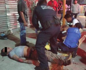 Jóvenes ebrios se accidentan en motocicleta en Xoxocotlán