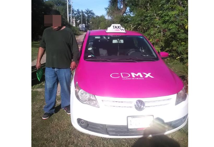 En Huajuapan, llevaba taxi con  reporte de robo