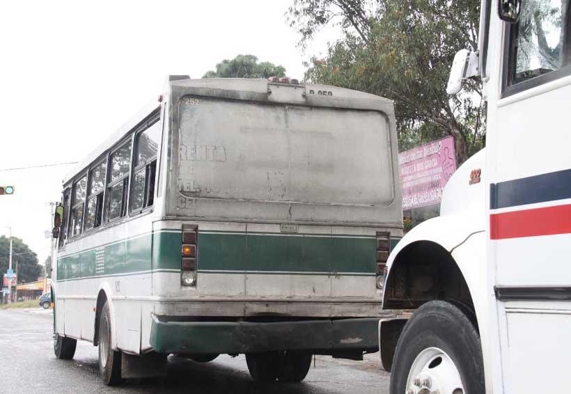 En Oaxaca, rutas saturadas e ineficientes