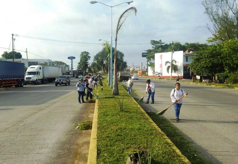 Continúa mantenimiento de bulevares en Tuxtepec | El Imparcial de Oaxaca