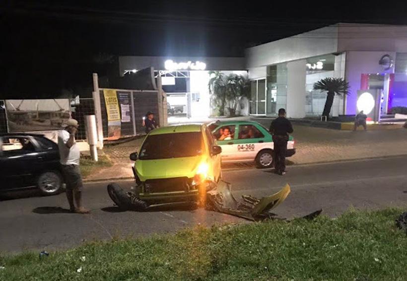 Se accidente mujer ebria en Puerto Escondido