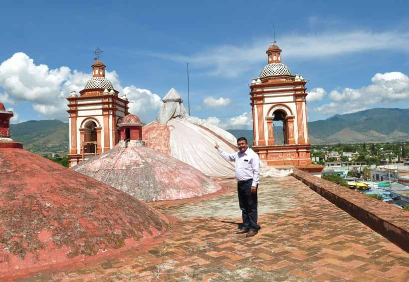 Permanecen cerrados 20  templos católicos por sismos en Oaxaca