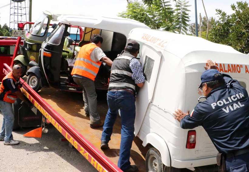 El mototaxismo, otro  problema de transporte en Oaxaca