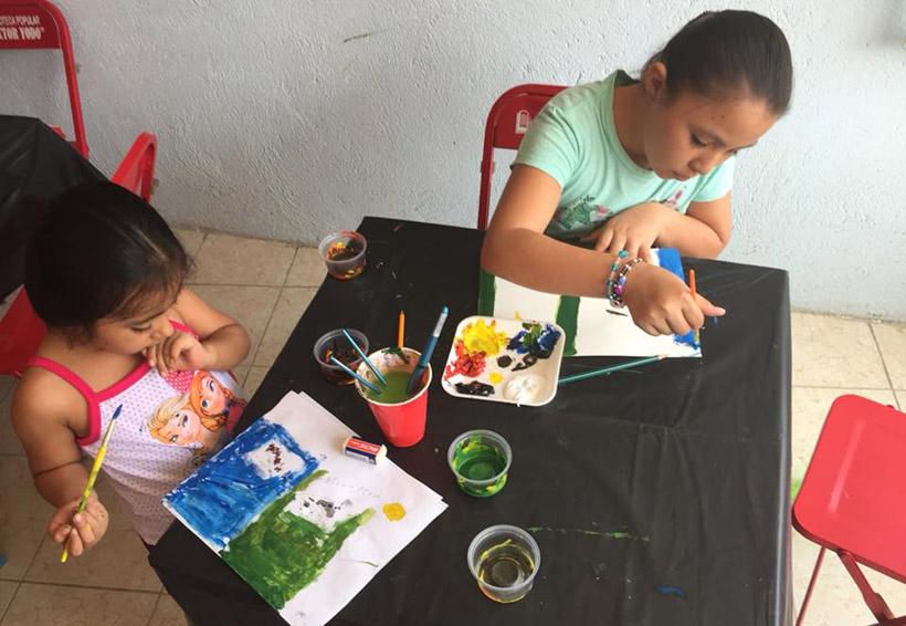 Fomentan el Didxazá con taller de pintura para niños del Istmo | El Imparcial de Oaxaca