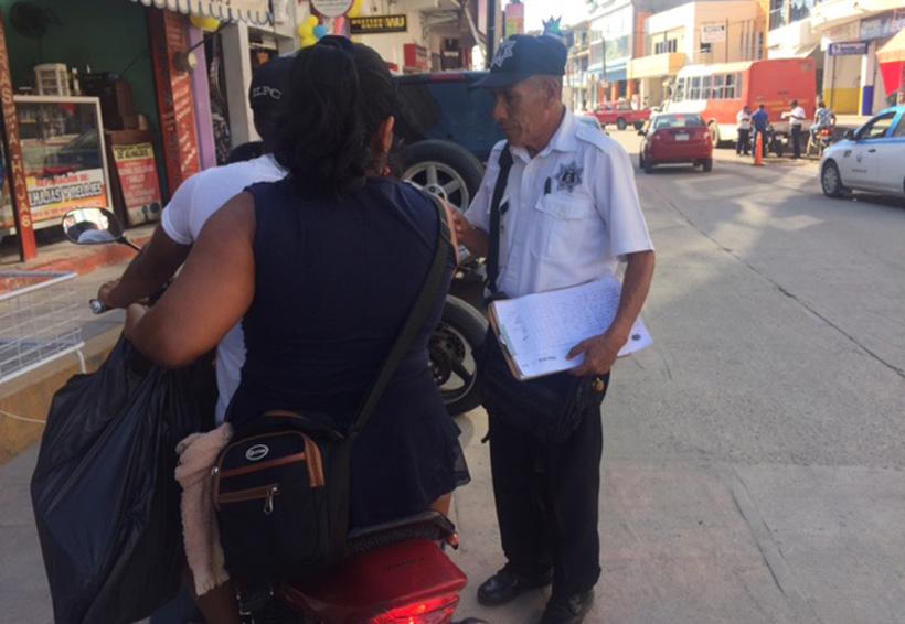 Realizan operativo permanente  para motociclistas en Pinotepa
