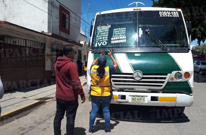 Continúan inspecciones al transporte público en Oaxaca | El Imparcial de Oaxaca