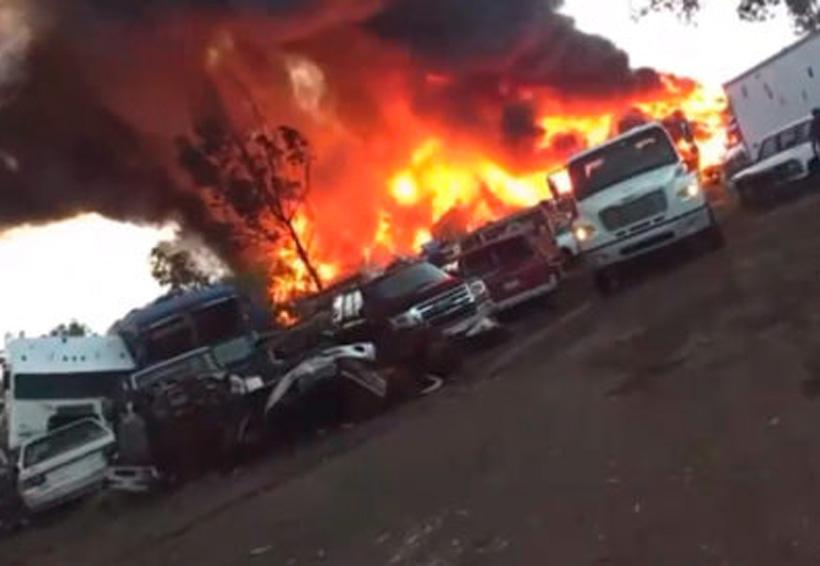 Por no pagar derecho de piso, grupo criminal quema depósito de vehículos | El Imparcial de Oaxaca