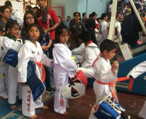 Histórica participación de taekwondoines