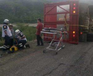 Volcadura fatal de indocumentados  en Guegoyache