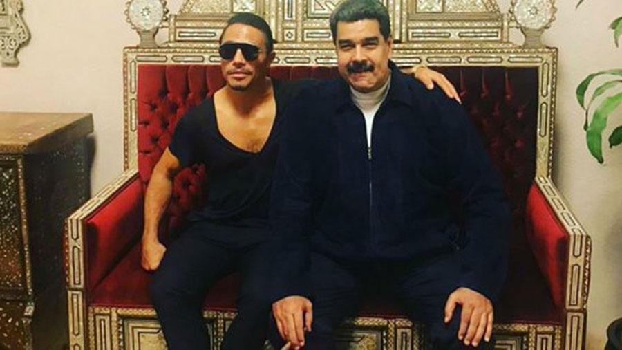 En plena crisis de Venezuela, Maduro come en lujoso restaurante