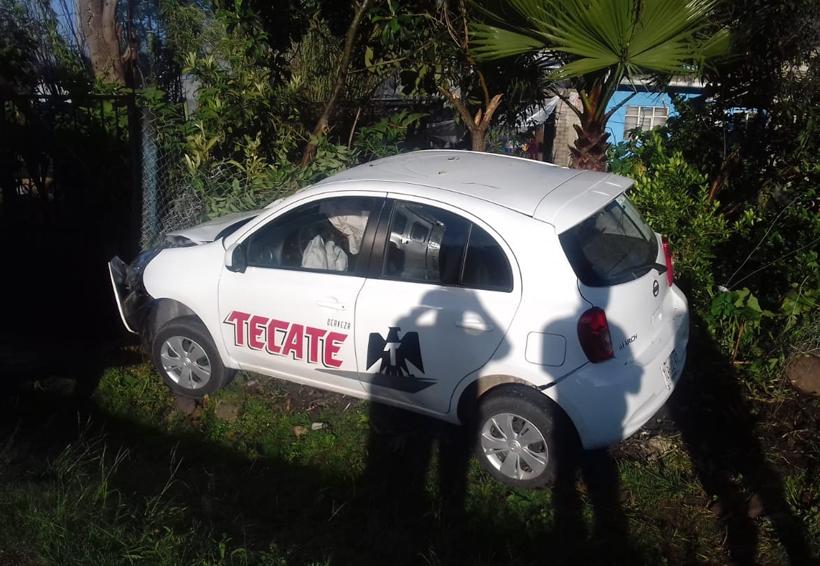 Choca contra vivienda en Tlaxiaco