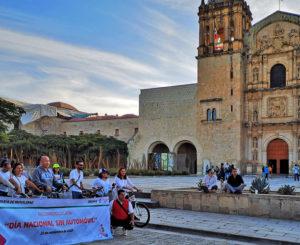 Con paseo ciclista conmemoran el Día Mundial Sin Auto en Oaxaca