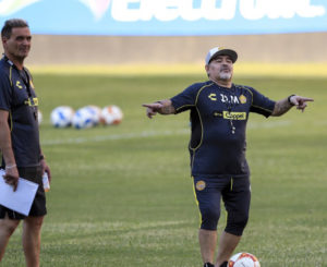 Diego Armando Maradona llegó a Oaxaca