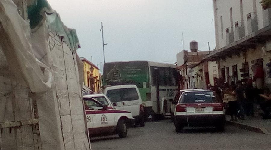 Desorden, peligro e informalidad en Oaxaca
