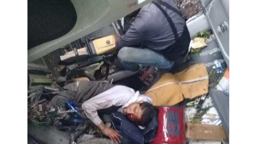 Vuelca camión en carretera Oaxaca-Istmo