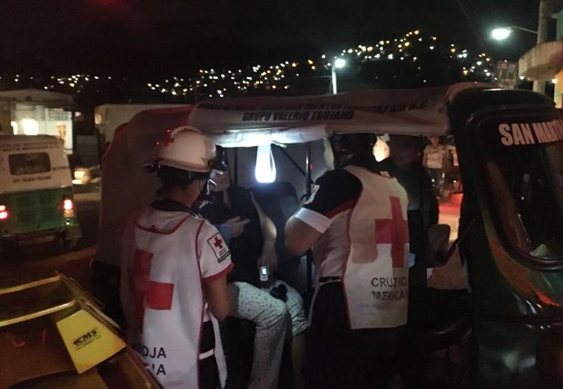 Dos accidentes de mototaxis en ciudad de Oaxaca