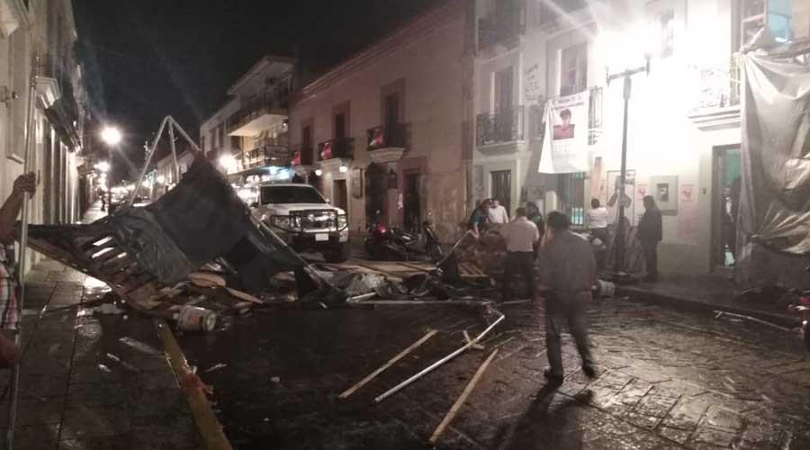 Por fin la Sección 22 libera la calle de Armenta y López | El Imparcial de Oaxaca
